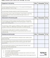 Triple E Printable Rubric for Lesson Design