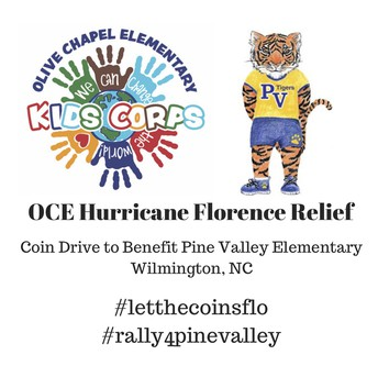 LAST WEEK For Kids Corps Club Hurricane Relief Coin Drive