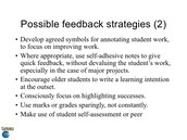 Respond to Student Writing