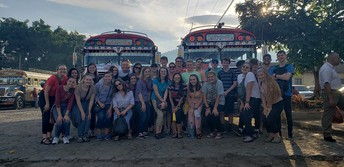 Student group traveling in Guatemala