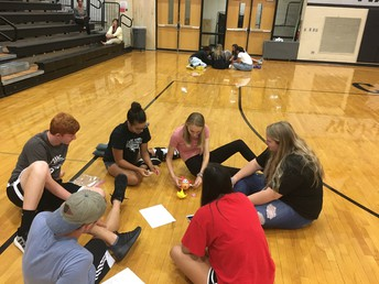 AP Boot Camp students go through a team building session.