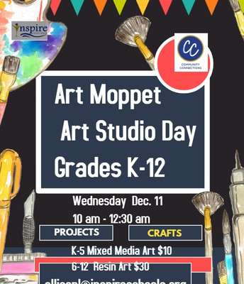 Community Connections- Murrieta- Art Moppet Art Studio Day- All Ages