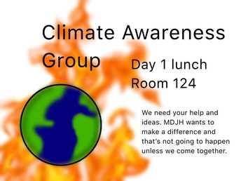 A message from the MDJH Climate Awareness Group