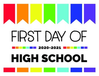 First Day of School for 2020-2021