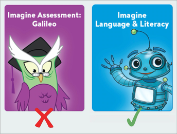 3. Click on the blue tile for Imagine Language & Literacy. Student lessons will begin automatically.
