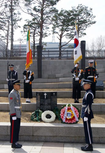 St Patrick's Day wreath-laying ceremony