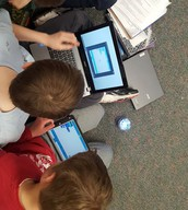 Coding spheros in 5th grade