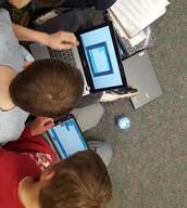 Coding spheros in 5th grade