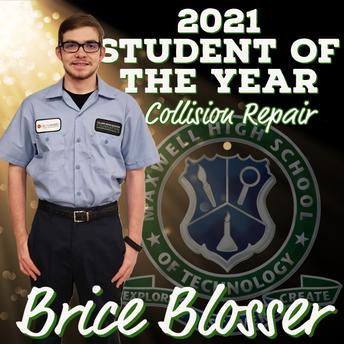Brice Blosser, Collision Repair SOY
