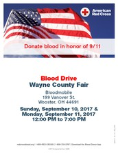 Donate Blood at the Fair!