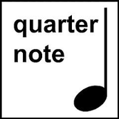 quarter note = negra