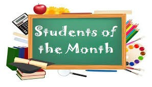 CONGRATULATIONS TO OCTOBER STUDENTS OF THE MONTH