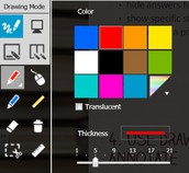 1. Customize the pen colors, line thickness, and style