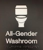 All-Gender Washroom sign