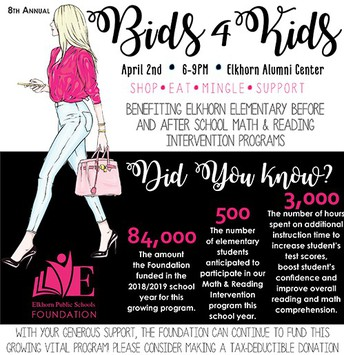 EPS Foundation: Bids 4 Kids Information