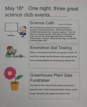 SCIENCE CLUB NEWS