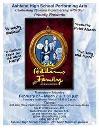 Ashland High School presents the THE ADDAMS FAMILY, the MUSICAL for All