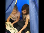 Reading in Our Reading Tent