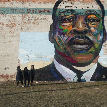 Mural of Martin Luther King Jr. in Cleveland, OH