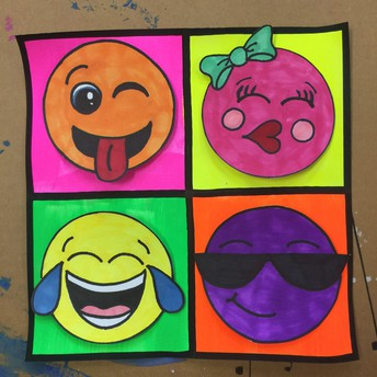 "5th grade ""Andy Warhol Emoji's"""