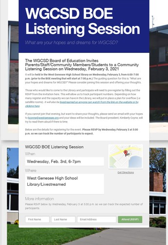 Mark Your Calendars: Board of Education to Host a Listening Session