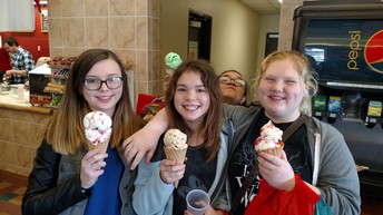 8th Graders During UNL Career Field Trip at the Dairy Store