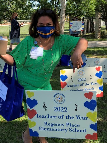 Mrs. Flores, Teacher of the Year