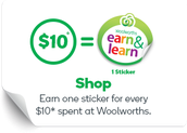 EDUCATION SUPPORT - WOOLWORTHS EARN AND LEARN PROGRAM