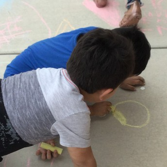 Using yellow chalk