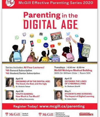 Parenting in the Digital Age - begins April 14