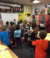 FMHS Teen Leadership teaching 1st grade about 1st impressions