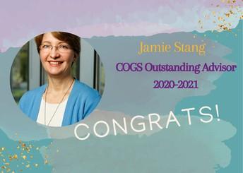 2. Jamie Stang Won the 2020-21 COGS Outstanding Advisor Award
