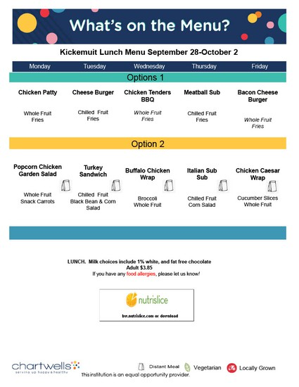 New hot lunch options now available!