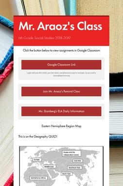 Mr. Araoz's Class Website
