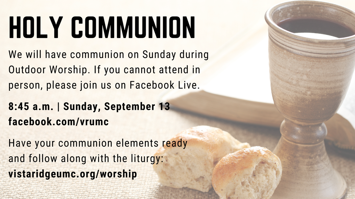 Holy Communion on Facebook Live