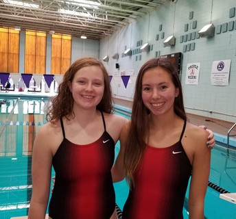 Trojan swimmers represent