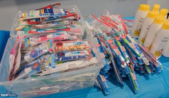 Toothpaste, toothbrushes, mouthwash and dental floss.