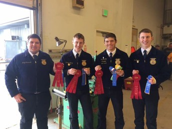 Second Place Ag Mechanics Team!