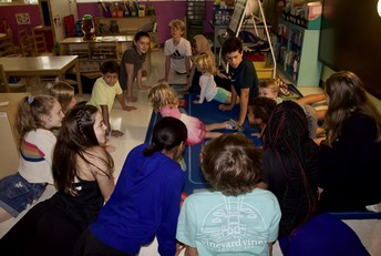 Renfroe 8th Graders Teach Yoga to College Heights Pre-K Students