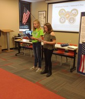 6th Grade students sharing the meaning of Veterans Day