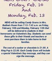 NEHS Candy Gram Sale - Feb. 10 & 13