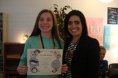 ONE OF THE 7th grade ONE AWARDS WINNERS