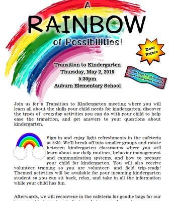 Transition to Kindergarten Night: A Rainbow of Possibilities!