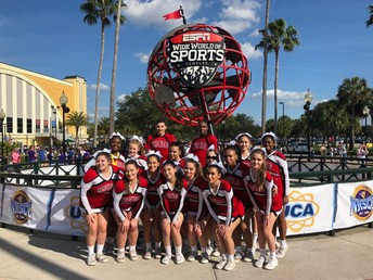 Cheerleaders Compete on National Stage