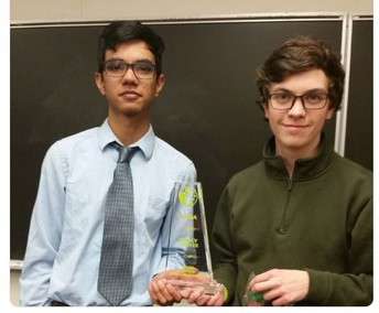 D'Alessandro and Sharda Reach Finals in State Debate Tournament