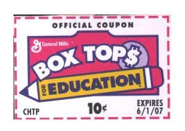 Box Tops fro Education