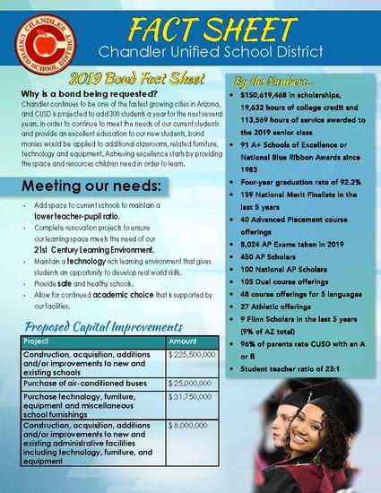 2019 CUSD Bond Fact Sheet