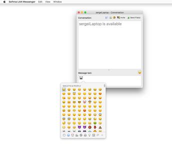 Mac OS X LAN messenger version