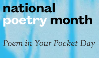 April 29th is Poem In Your Pocket Day!