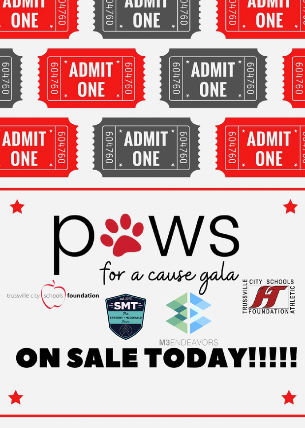 Paws for a Cause Virtual Gala tickets on sale today - info in paragraph below